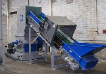 Granulator and In-feed conveyor for Post Production Waste