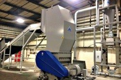 Granulator with Custom Built Hopper for Wheelie Bins