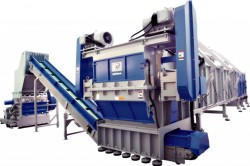 image of large pipe shredding system